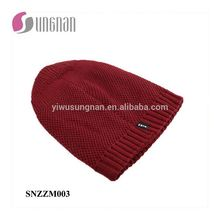 New Arrival Europe Men Fashion Knitted Hat Thick Warm Wool Cap