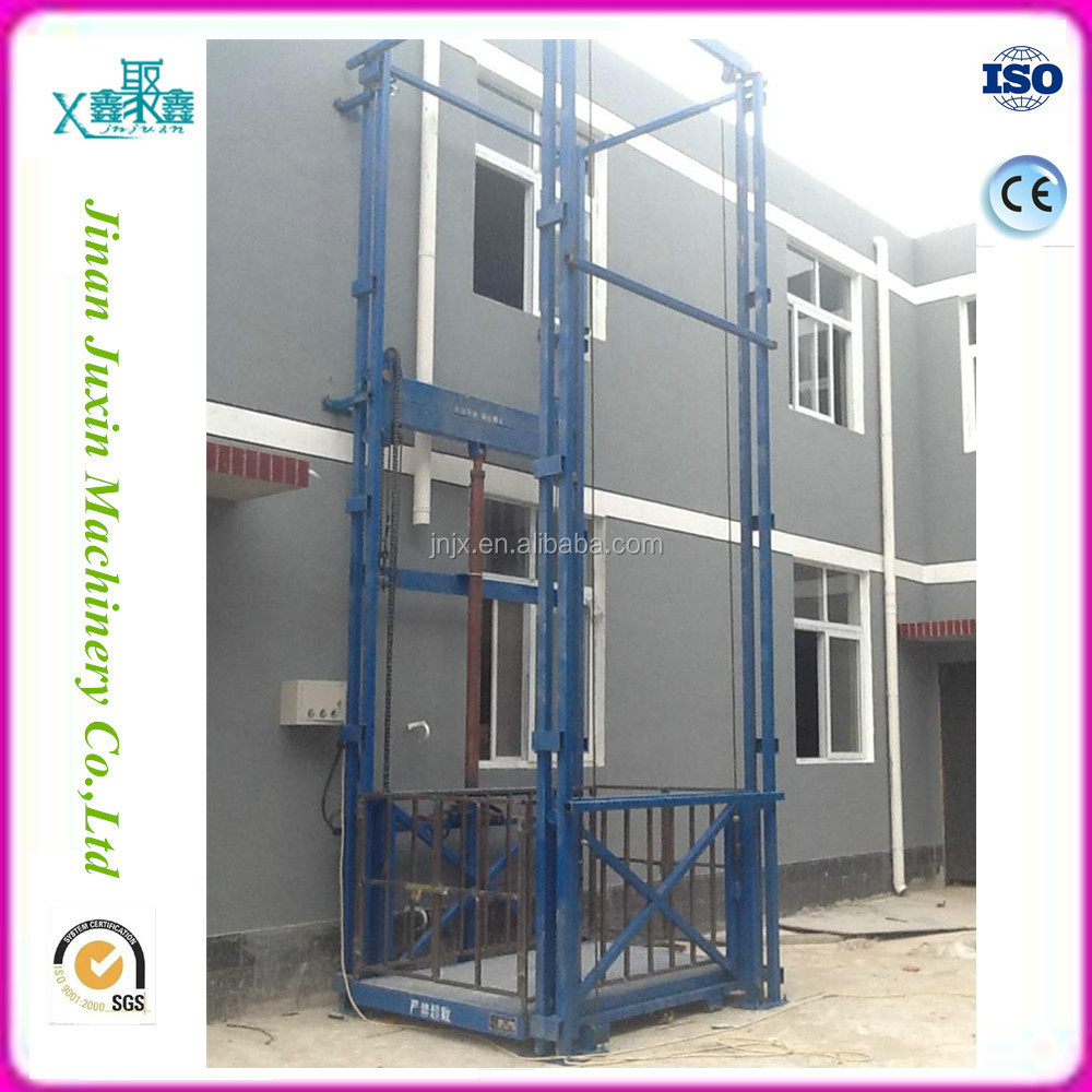Vertical hydraulic lift table guide rail used goods elevators