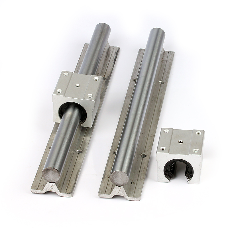25mm diameter Cylindrical aluminum bracket rail linear slider SBR25UU
