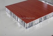 Wood Grain Coating Aluminum Honeycomb Panels for Interior Wall decoration