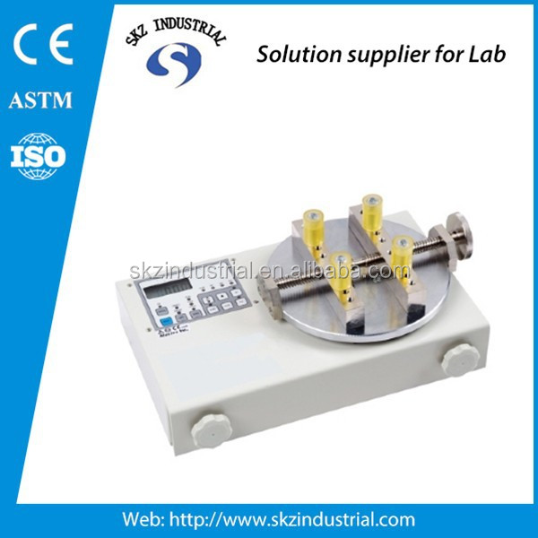 locking and opening digital bottle cap torsion tester