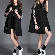 Wholesale New Style Fashion Lightweight Hooded Windbreaker Bomber Jackets Women