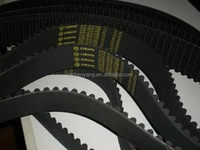 Good quality new coming pu timing belt with green fabric