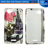 Colorful Printing TPU Cover Case For Sony Xperia L S36H Phone Case with Diamond