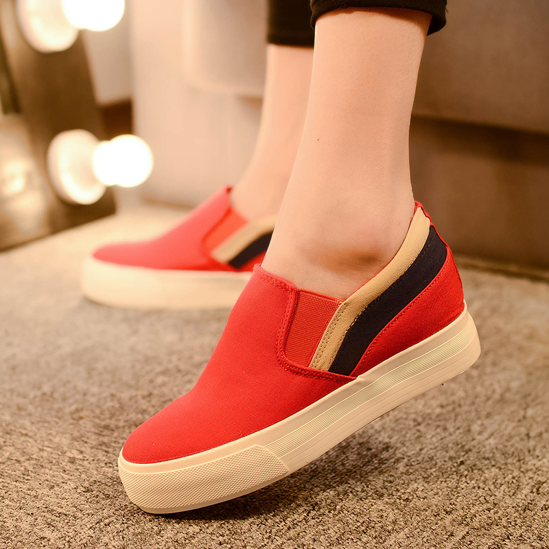 red white black customized logo brand Europe styles charming latest CE certificate best quality ladies canvas shoes