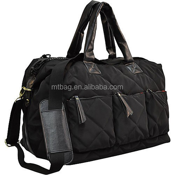 Quilted travel bag nylon travel bag