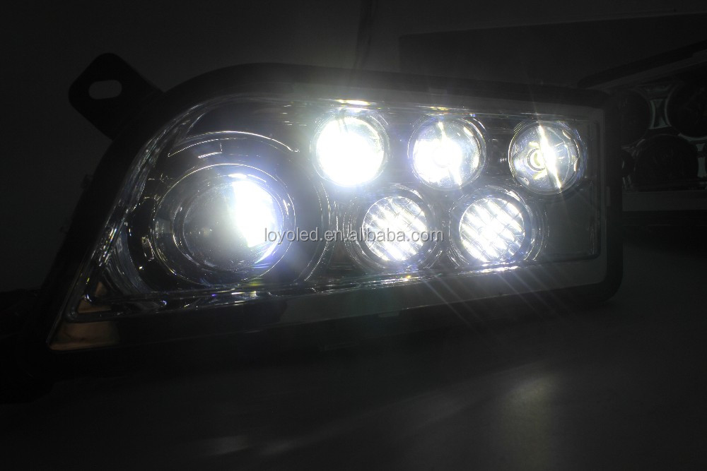 POLARIS RZR1000 Halo Headlight - BLACK CHROME RED GREEN BLUE ORANGE LED HALO HEADLIGHTS KIT- Full Angel