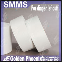 100% virgin polypropylene SMS Nonwoven material applied in baby diaper Leg Cuff