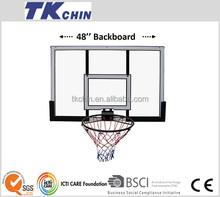 48'' steel framed wall mounted basketball backboard with rim net