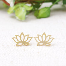 2016 trendy jewelry double crown double silver gold flower shaped stud nice ature fashion earring base for cute women lady