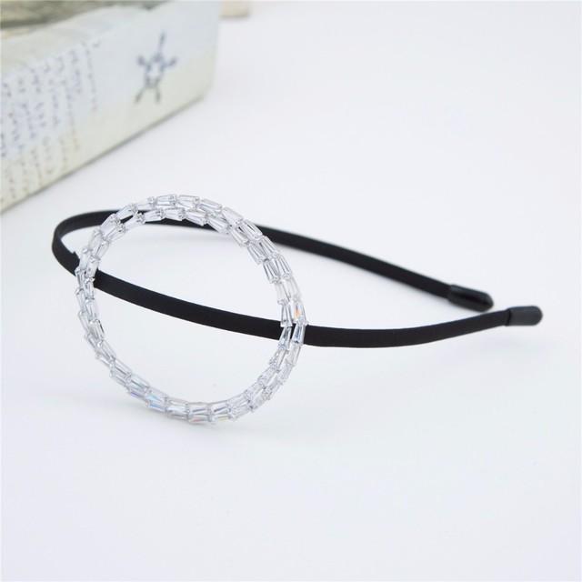 New Designs Oval Shape Zirconia Stones Headband Wedding Accessories CZ Head Hairband