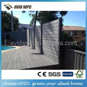 CE certificate cheap wood plastic composite wpc fence board price for sale