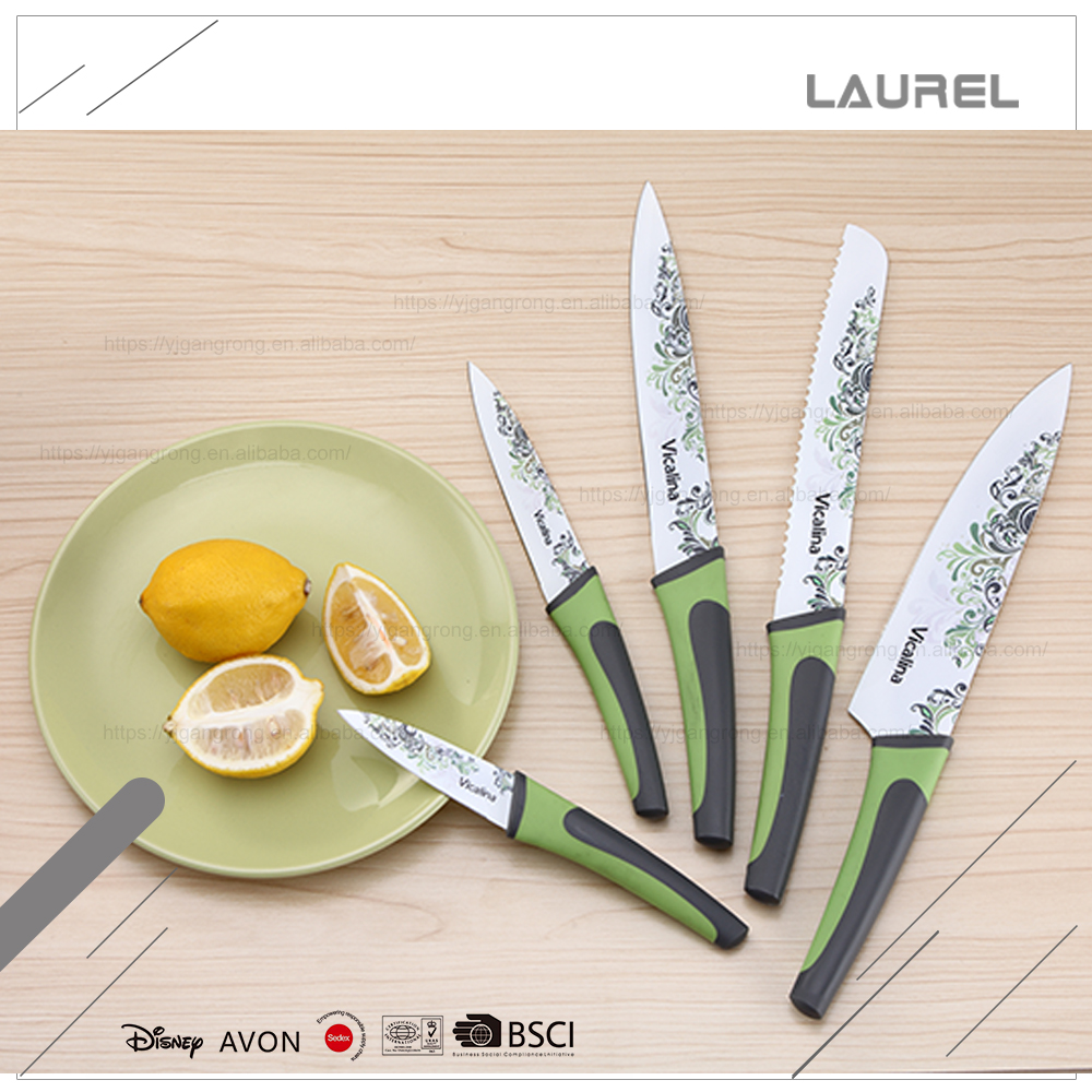 Intended for cutting fruits stainless steel printing blade kitchen fruit knife