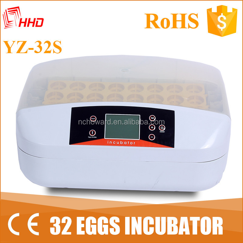 HHD Newest model small 32 automatic chicken/quail/reptile incubators egg YZ-32S