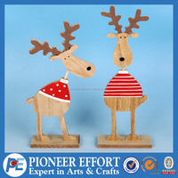 Wooden Christmas Deer Table Decoration