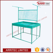 retail store pop display stand customized metal floor surpermarket fruit vegetable rack