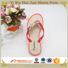 2015 new style wedge sandal High Quality PVC cheap new fashion the national flag team flip flop slipper