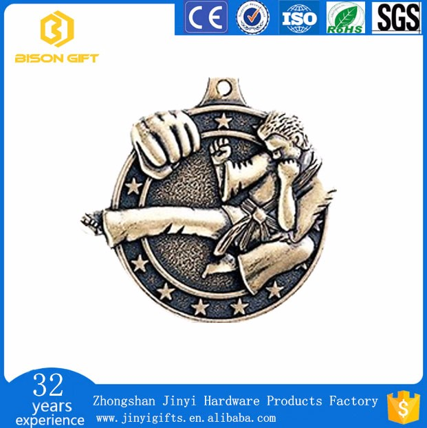 Wholesale cheap custom metal sports taekwondo souvenir medal