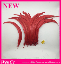 Hot sale turquoise rooster tail feather for crafting decoration wedding fly tying costum
