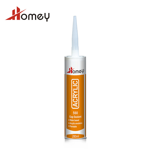 Homey 560 general purpose water based excellent paintable acrylic silicone sealant