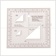 Kearing brand transplant plastic square military triangle scale protractor with accurate scale for military use#KMP-2