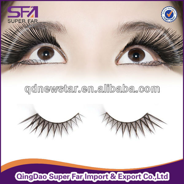 human hair false eyelashes,remy hair eyelashes