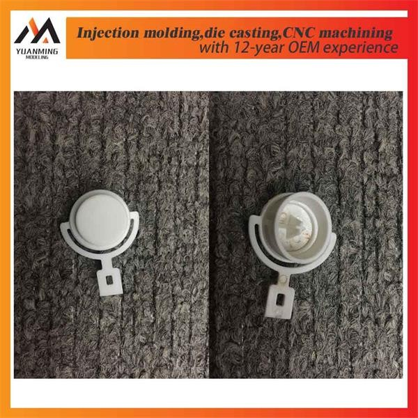 Rapid prototyping plastic button molds in PC flame retardant grade
