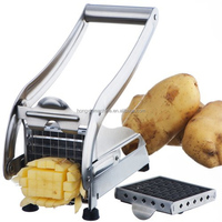3 Blades for free french fries manual potato chips cutter