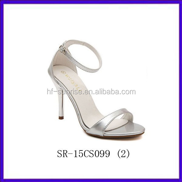 sexy stiletto silver dress ladies summer sandals women sandals new design girls sandals