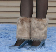holesale Fashion Girls Boot Cuffs/Fluffy Soft Furry Faux Fur Leg Warmers/Ladies Boot Toppers 15cm