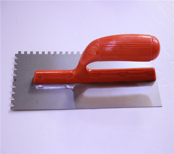 Notch trowel with plastic trowel /hand tools