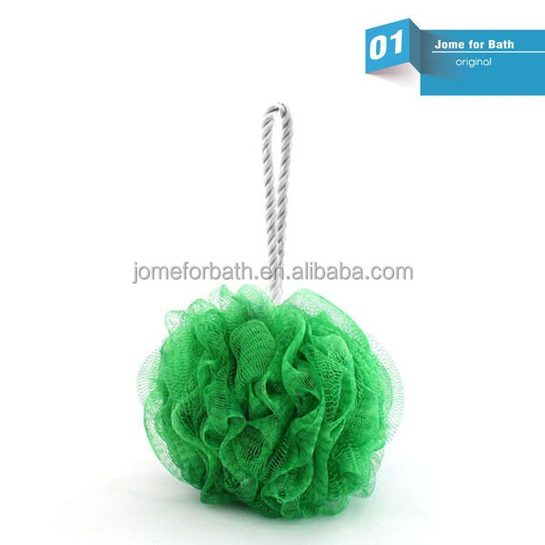 Bath Brush with Long Handle Body Back Brush Shower Nylon Mesh Scrubber Loofah Sponge