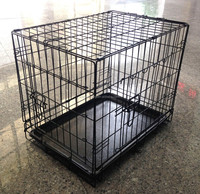 portable metal pet crate dog cage