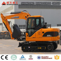 earthmoving machinery 9ton rc construction equipment excavator digging