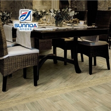 homogeneous ceramic 3d wooden grain glazed marble floor tiles with high quality