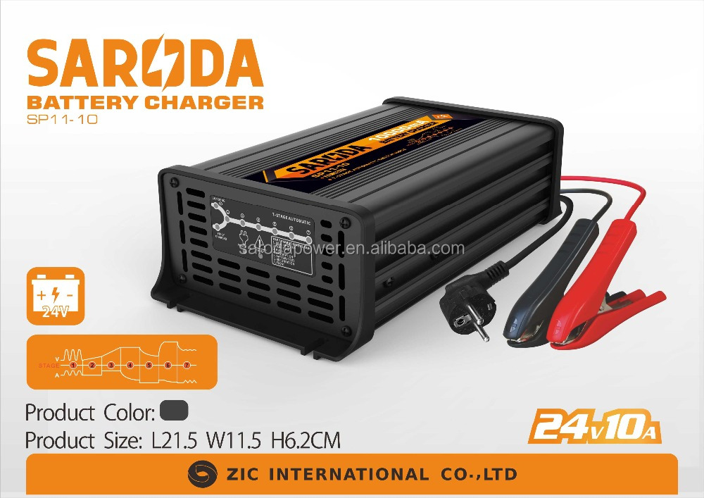 PORTABLE CAR BATTERY CHARGER WITH CE & CB CERTIFICATES 24V 10A BATTERY DESULPHATOR