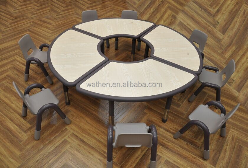 2015 New Style Solid Wood Assembled Round Table SW-004