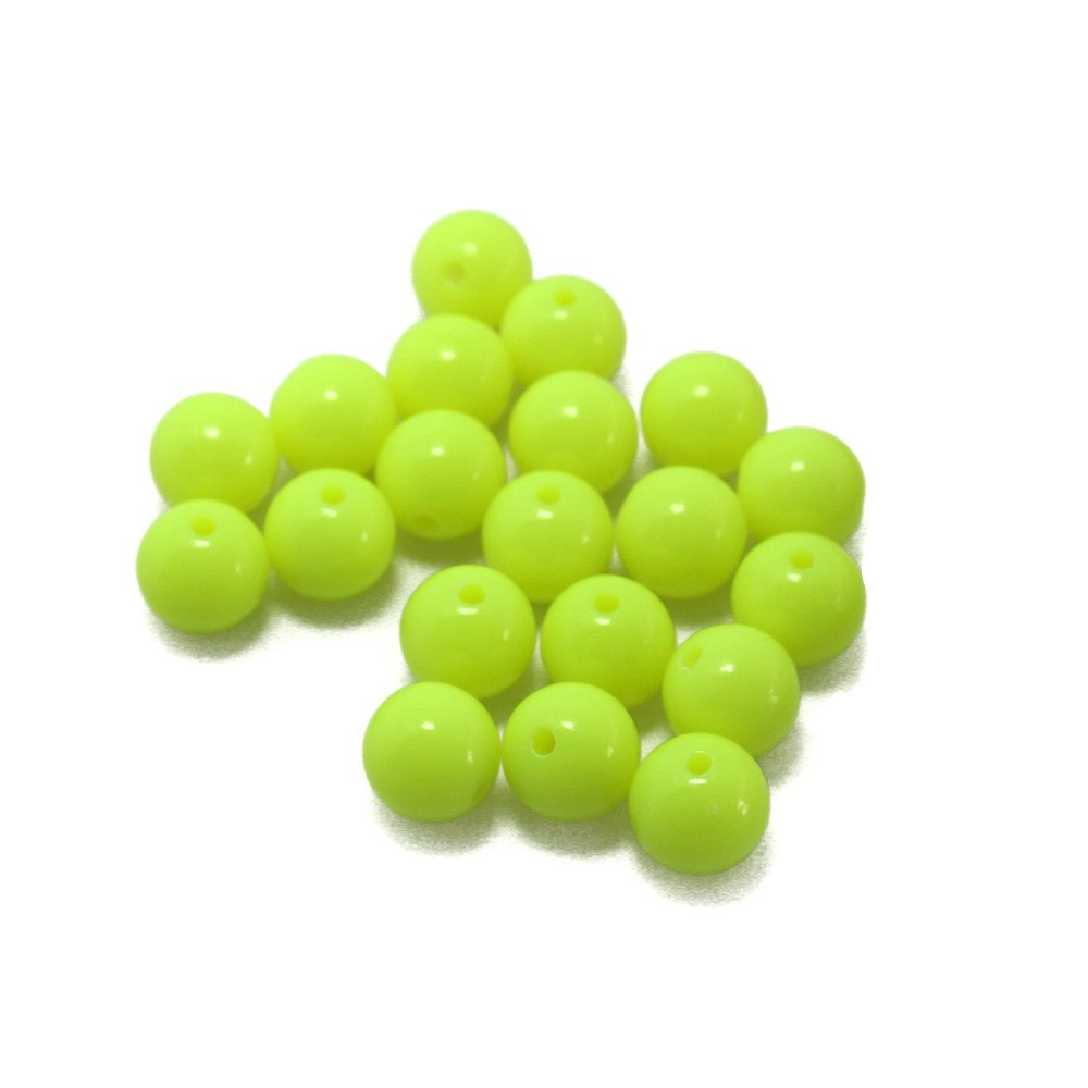 Wholesale 850pcs/lot Yellow 10mm Round Fashon Acrylic Loose Beads for DIY Craft DH-BSD104-24