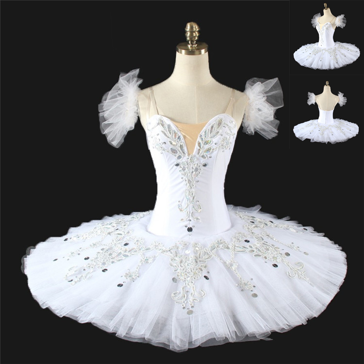 Girls Custom Measurements Ballet TUTU Dress Skirt White Swan Lake TUTU Ballet