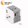 Fashionable travel adapter with dual usb port OEM printing is available 220 plug adapter