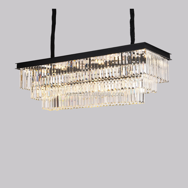 Modern Dining Room LED K9 Crystal Hanging Lamp Lighting Chandelier