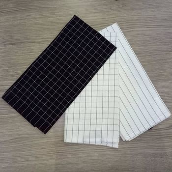 high quality cotton black and white kitchen towels