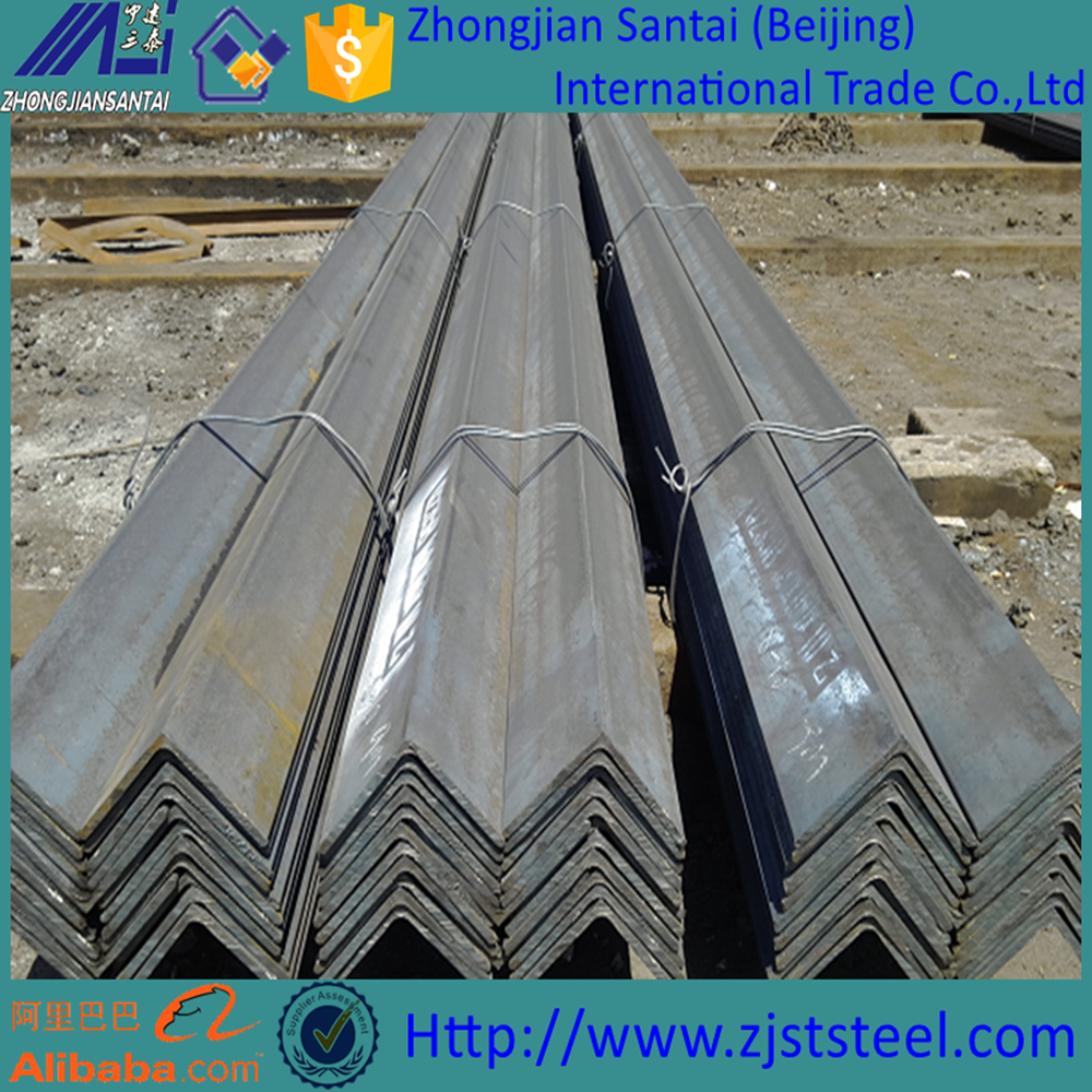 High Quality Hot Rolled Low Carbon/Galvanized Iron 45 Degree Steel Angle Bar Size