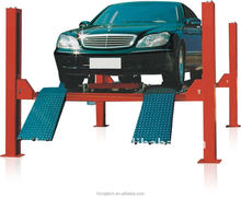 4 ton four post lift for wheel alignment using