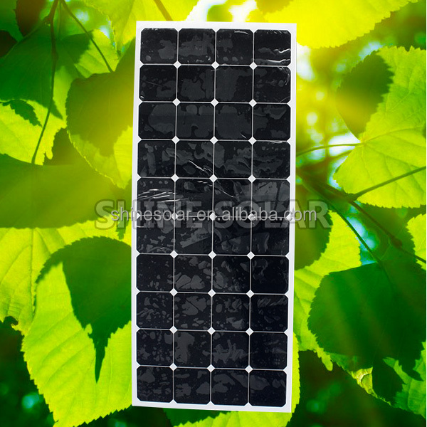 Shine 100W to 300W flexible solar panel 48V/12v/24v/36v with ISO,TUV,UL,CE&CSA 250w fexible solar panel bnenable 30~90