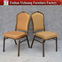 Iron fabric Chair with brown seat cushion and good welding finish YC-ZG10-67