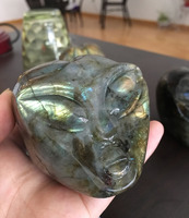 Hot sale natural hand carved labradorite crystal skull alien for sale