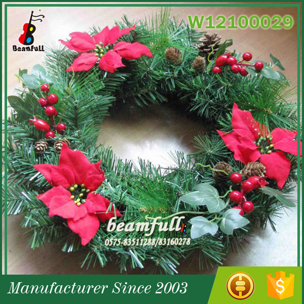 China Manufacturer Top 10 For Festivals Celebrations wreath-Artifical PVC Christmas Wreath