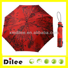 New design dark red printing with case royal umbrella