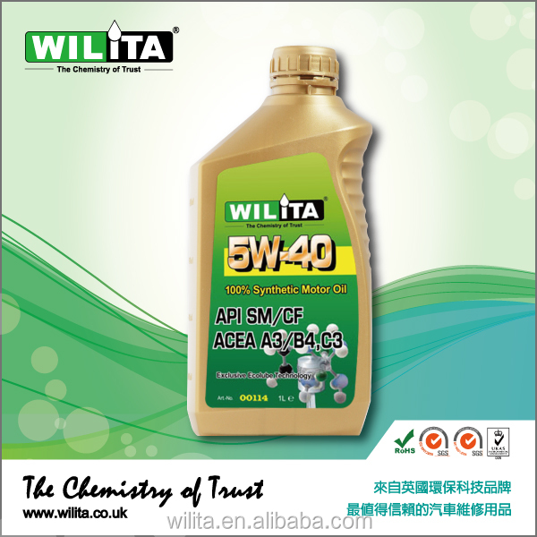 Engine Oil 5W40 Motor Oil Lubricant